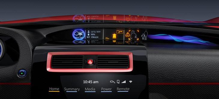 multiple information  car dashboard das european autohaus